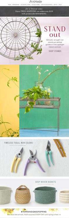Stand Out #plantstands at Terrain.