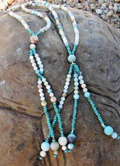 JUZU - Amazonite & Agate Beads, Spiritual Beads, SGI Buddhist Beads by creationsbylr on Etsy