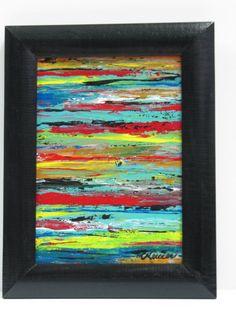 Peinture abstraite peinture à l'acrylique petite toile par artcm