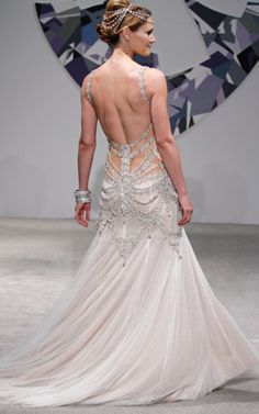 wish i could see the front! Pnina Tornai for Kleinfeld Bridal 2010