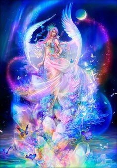 Unicorn Pictures, Fairy Pictures, Angel Pictures, Beautiful Fantasy Art, Beautiful Fairies, Dessin My Little Pony, Elfen Fantasy, Angel Art, Fairy Art