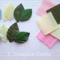 Paper Flowers Craft, Flower Crafts, Diy Flowers, Fabric Flowers, Paper Crafts, Diy Crafts For Girls, Diy Arts And Crafts, Hobbies And Crafts, Creative Crafts