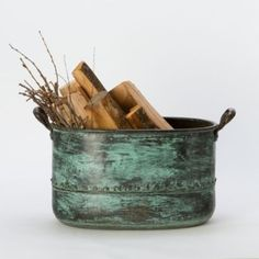 Anthropologie Terrain Riveted Copper Tub    Love this
