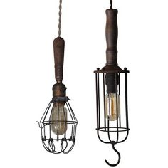 Industrial Chic--Love the old Trouble Lights. Industrial House, Industrial Lighting, Rustic Industrial, Vintage Lighting, Rachel Zoe, Light Fixtures, Garden Tools, Cool Designs, Old Things