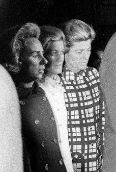 . Mrs. Ethel Kennedy, left, wife of the slain Sen. Robert F. Kennedy, follows…
