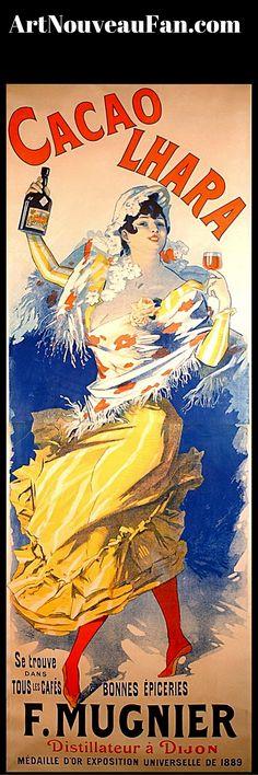 Art Nouveau advertisement- Makes me almost want to start drinking again #artnouveaufan