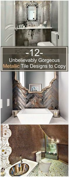 I am completely IN LOVE with these 12 metallic tile designs!