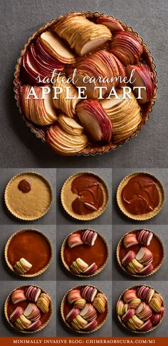 Gluten-free apple tart with salted caramel by Amy Roth Photo Just Desserts, Delicious Desserts, Dessert Recipes, Yummy Food, Foto Pastel, How Sweet Eats, Caramel Apples, Baking Recipes, Pie Recipes