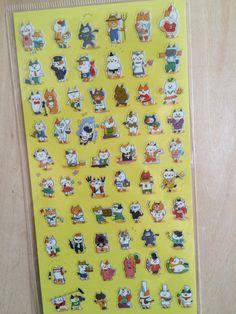 PVC Transparent Korea deco stickers  Mind Wave by ZakkaLuLuZone