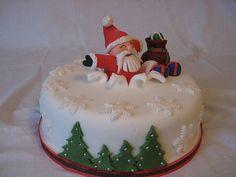 Christmas cake, bursting Father Christmas | Brazen J | Flickr