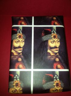 Vlad the Impaler/Vlad Dracula wrapping paper/giftwrap. $6.00, via Etsy.