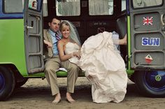 vw bus wedding prop, super fun!