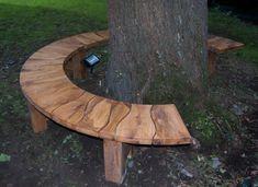 Green oak tree seat sat around a majestic oak tree Green oak tree seat sat around a majestic oak tre Tree Seat, Tree Bench, Garden Seating, Outdoor Seating, Outdoor Decor, Garden Benches, Landscaping Around Trees, Backyard Landscaping, Backyard Projects