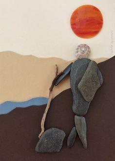 Pebble art , i love plmtbk by yasavas , ig:yasavas