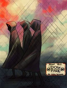 Welcome to Night Vale. Do not look at the dog park. Do not look at the hooded figures at the dog park. Do not think about the dog park for extended periods of time. The dog park will not harm you. Cecil Baldwin, Night Vale Presents, Glow Cloud, The Moon Is Beautiful, What Dogs, Arte Horror, Cultural Events, Park Photos, Dog Park