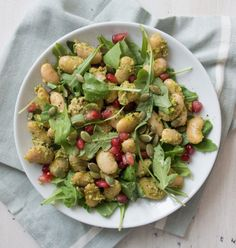 Pesto Butter Bean Salad | Deliciously Ella
