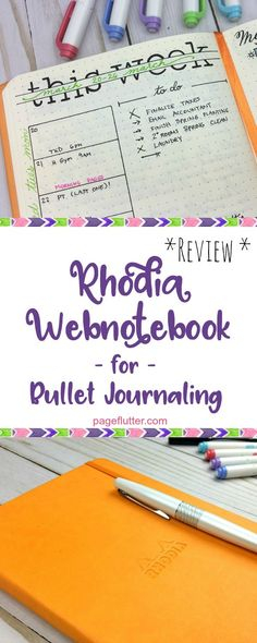 Notebook review: Rhodia Webnotebook has incredible paper for bullet journaling.