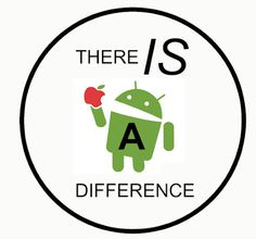 """TOMORROW: All Android users should take their phones into an Apple Store and advise a """"Genius"""" that their iPhones aren't working.    And when the employee says """"But that's not an iPhone"""" you just say  """"That's funny, the rest of your company couldn't tell the difference.""""     Then slap this sticker on their counter."""