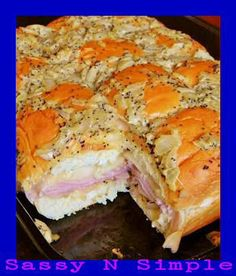 Hawaiian Baked Ham and Cheese Sandwiches