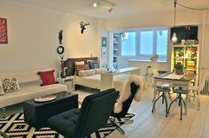Open floor plan studio