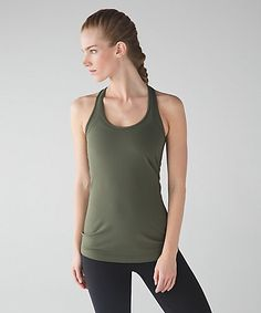 36000ab2b265a Lululemon Cool Racerback - Fatigue Green (First Release) - lulu fanatics