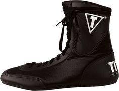 Black//Black Title Boxing Enrage Lightweight Mid-Length Boxing Shoes