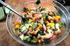 shrimp cucumber mango salad
