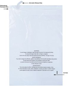 500 6x9 Self Sealing Clear Poly Bags with Suffocation Warning with Strong Glue #PackZoom