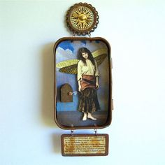 Mixed media interactive hanging fairy Altoid by shadesoflimonium, $40.00