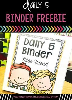 Daily 5 Organization Binder FREEBIE! Everything you need to organize your daily 5 small group sessions!