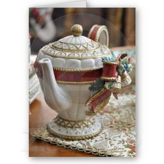 christmas Tea Pot Card