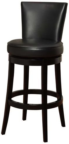 $290 bicast leather Legacy Commercial Swivel Barstool in Black Bicast Leather with 30-Inch Seat Height
