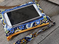 Iphone Galaxy Cell PhoneWallet Wristlet by StitchingInTheTrees, $30.00