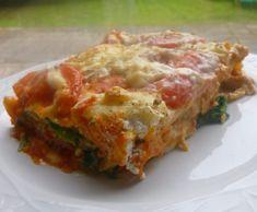 Recette lasagnes épinards,tomate,chèvre par elleisab - recette de la catégorie Plats végétariens