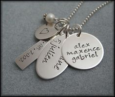 Family necklace.  I love these.