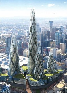 Norman Foster's tower complex, Melbourne.  Canceled.