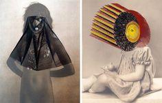 Artist Maurizio Anzeri stitches thread into discarded family photographs.