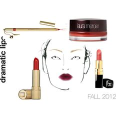 """""""dramatic lips"""" by pcnooga on Polyvore"""