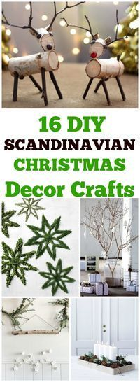 16 DIY rustic nature projects with a Scandinanvian modern twist. #DIYChristmas #christmas #Christmasdecor #naturecrafts