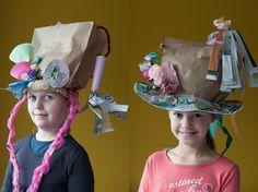 hoeden van papieren zakken