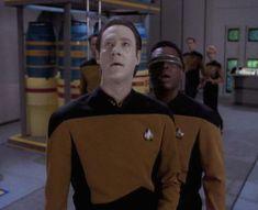 Michael Dorn, Brent Spiner, LeVar Burton, and Patrick Stewart in Star Trek: The Next Generation Star Trek, Lt Commander, Patrick Stewart, Data Protection, Battlestar Galactica, The Next, Live Long, Polo Ralph Lauren, Stars