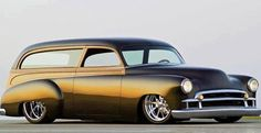Early 50's Chevy wagon, built by Rad Rides by Troy.