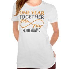 Custom Mr and Mrs 1st Anniversary Tee Shirts T-Shirt, Hoodie