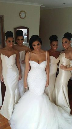 White/Ivory Mermaid Bridesmaid Dresses Sweetheart Long Taffeta Champagne Wedding Guest Dress Plus Size Custom Made