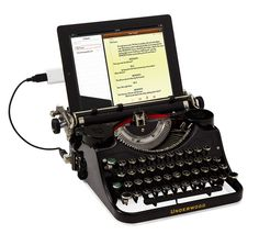 USB powered typewriter? $800 not including tablet? For the techie who has everything maybe ...