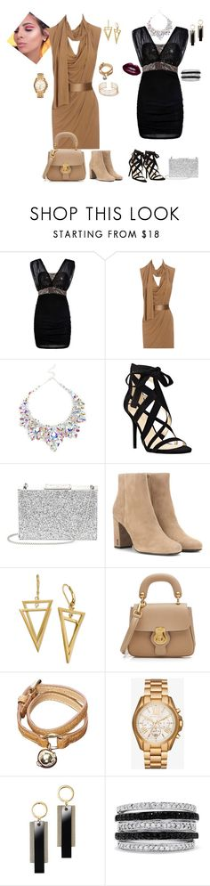 """dresses"" by svetlozeme ❤ liked on Polyvore featuring Alexander McQueen, Nine West, Aspinal of London, Yves Saint Laurent, Burberry, Mulberry, Michael Kors, Avon and Effy Jewelry"