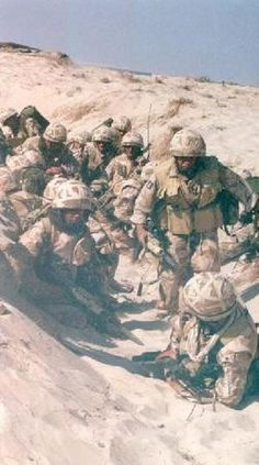Feb. 7th 1991  Gulf War: Ground troops cross the Saudi Arabian border and enter Kuwait, thus starting the ground phase of the war.