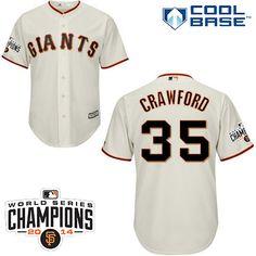 San Francisco Giants 2015 Cool Base Brandon Crawford Home Jersey w/2014 World Series Champions Team Patch - MLB.com Shop