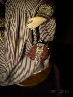 Handmade Ooak doll by Romantic Wonders Silk Dress, Dress Skirt, Ooak Dolls, Cotton Dresses, Bucket Bag, Corset, Bodice, Wigs, Velvet