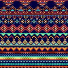 Pattern in tribal style  Free Vector